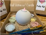 PoGo Kits: Paint Your Own Pottery ToGo! (Sphere Votive)
