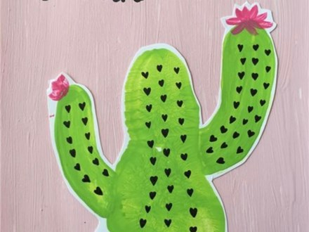 Mommy & Me Cactus Canvas June 1
