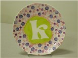 Monogram Plate Party Package at Ready, Paint, Fire!