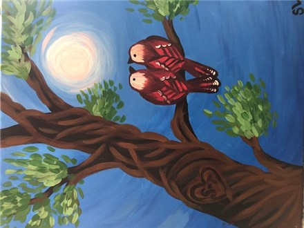 Love Birds Canvas Paint Night - July 26th 6:30pm