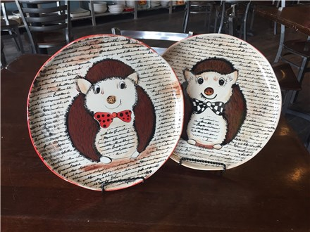 Pottery Hedgehog Night at Fire Me Up! Saturday, May 6th 7-9p