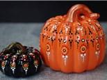 Dot Mandala Pumpkins at KILN CREATIONS