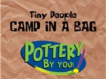 TINY PERSON CAMP IN A BAG at POTTERY BY YOU!