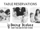 Table reservation for 4 at Doing Dishes Pottery Studios, San Jose
