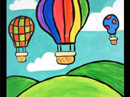"Kids Night Out Canvas Night! ""Hot Air Balloon Ride"" Friday, June 24th 6-8pm"