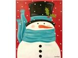 Snowman BRrrr-  paint your choice colors - 16x20 canvas