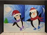Mommy and Me Painting Class - Penguins
