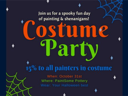Halloween Costume Party at Paintsome Pottery!