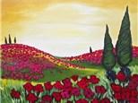 Poppy Field - Canvas Class - Thursday, August 3rd