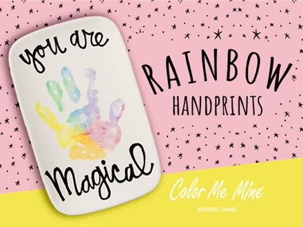 Rainbow Handprint Plate Activity!