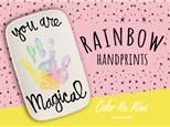 Rainbow Handprint Plate Activity!