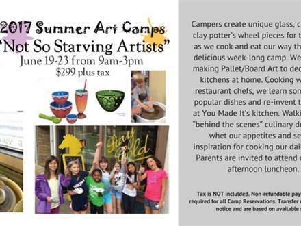 Week Long Summer Art Camp: Not So Starving Artists June 19-23rd 2017