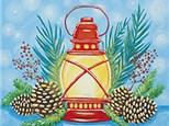 Canvas Painting - Holiday Lantern - 12.21.17