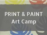 Print & Paint Art Camp