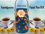 Farmhouse Paint ParTEA for Adults - March 20th @ 11am