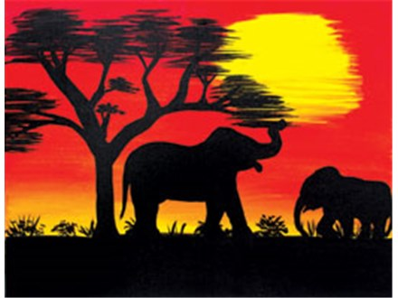 African Safari Painting Class: July 20