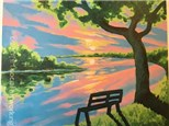 Canvas & Wine Night! River Reflection! 4/3/17