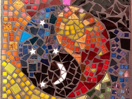 Mosaic Stepping Stones September