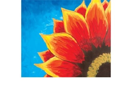 Red Sunflower - Canvas - Paint and Sip