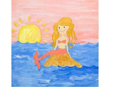 Kids' Canvas Class! Mermaid Tales! 12/28/18