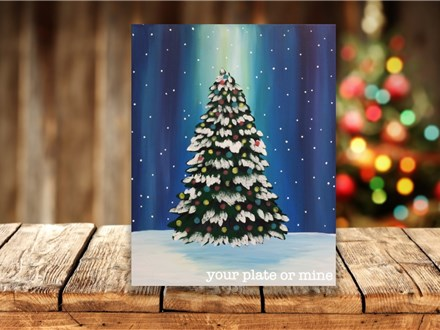 """""""O Christmas Tree"""" Canvas Class ages 8 & up 12/15/20"""