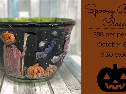 Spooky Bowl Painting Class