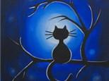 "Canvas & Cones ""Moonlight Meow"""
