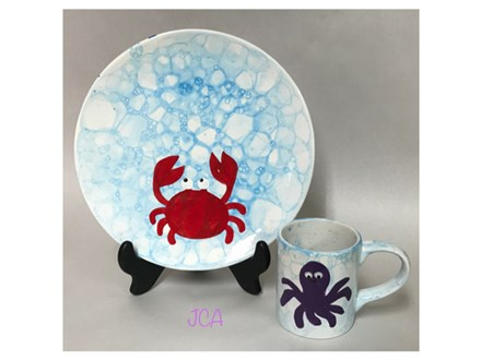 Mommy/Daddy & Me - Sea Bubble Plate or Mug 08/01