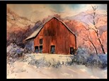 "12/14 GA-Watercolor: ""Winter Hay Barn"" 10AM $45"