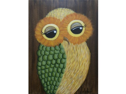 Barn Owl - 12x16 canvas