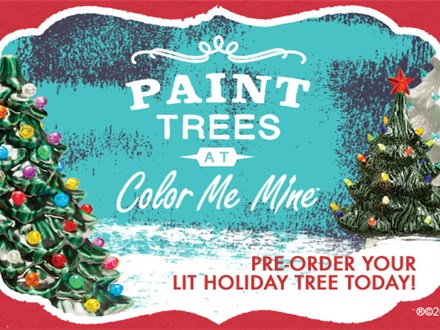 Pre-Order Your Christmas Trees at Color Me Mine!