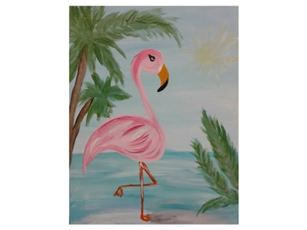 Flamingo in Paradise - Paint & Sip - July 1