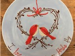 Family Pottery - Love Wreath Coupe Plate - 02.05.17
