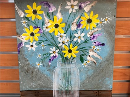 Country Bouquet Canvas Class