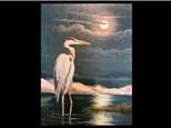 07/27 GA-Oil: Blue Heron in the Moonlight 10AM $45