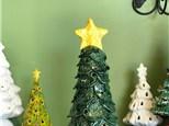 Hand Built Clay Christmas Tree