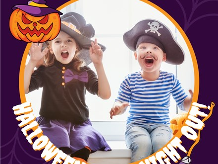 Halloween Kids Night Out! Acrylic style