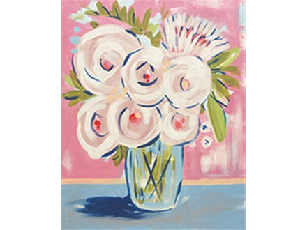 Adult Canvas - Abstract Peonies - 04.27.17 - Evening Session