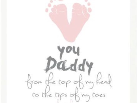 Mommy & Me Love You Footprint Canvas Jan. 13