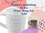 Pottery to Go Wine Mug Kit- $20