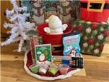 Santa Christmas Bucket - Rocky Mountain Chocolate Reindeer Apple Included