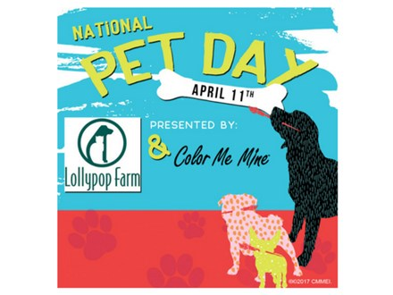 Clay Paw Prints for National Pet Day - April 11th 2019