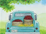 Truck with Apples Canvas Class!