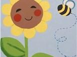 "Canvas & Cones ""Flower & Bee"""