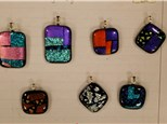 Jewelry pendants made from glass