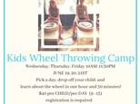 Kids Wheel Throwing Camp