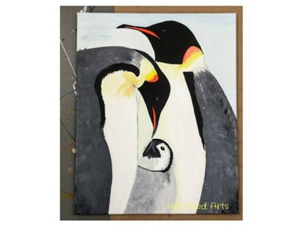 Paint n' Sip: Penguin family