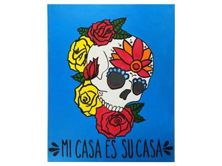 Adult Class Mi Casa Canvas Painting 10/03