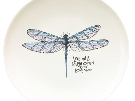 Dragonfly Pottery Plate Virtual or IN Studio Class! September 25