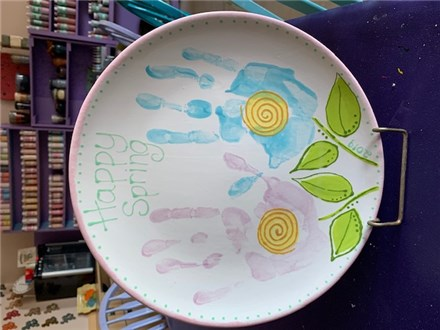 Handprint Mother's Day Plate